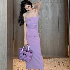 Edifil - Halter Plain Midi Dress