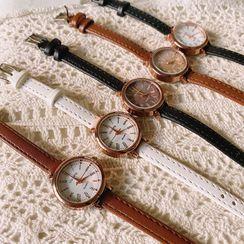 Yunikon - Faux Leather Strap Watch