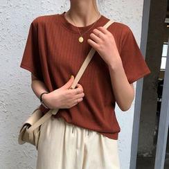 Moon City - Plain Short-Sleeve T-Shirt