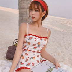AMARAVATI - Fruit Print Swimsuit
