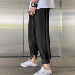 Wescosso(ウェスコッソ)  - Plain Sports Gathered Cuff Pants