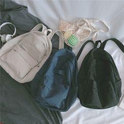 Anna Momo - Plain Drawstring Backpack