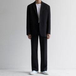 MRCYC - Single-Breasted Blazer / Straight Leg Dress Pants