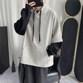 Skeggi - Mock Two-Piece Paneled Hoodie