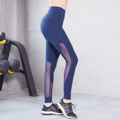 Mimamosa - 网纱拼接瑜伽裤