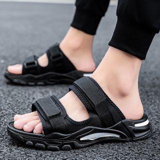 JACIN(ジャシン) - Adhesive Strap Slide Sneakers