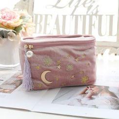Lopeach - Flannel Moon & Star Makeup Pouch