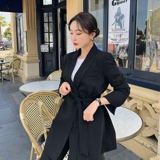 HOTPING - [LOVB] Peaked-Lapel Robe Blazer