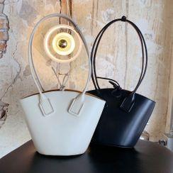 Cristal - Genuine Leather Shoulder Tote Bag