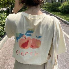 Ashlee - 短袖桃印花T裇