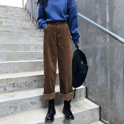 Piwonia - 灯芯绒宽腿裤