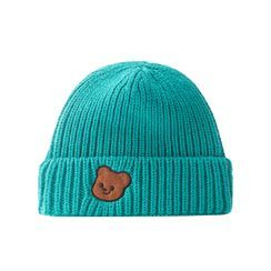 HARPY - Bear Applique Knit Beanie