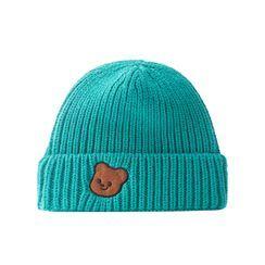 HARPY - Bear Applique Knit Beanie