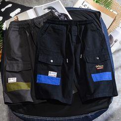Rampo - 拼接工装短裤