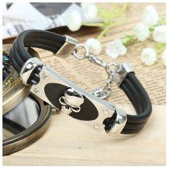 KINNO - Skull Stainless Steel Silicone Bracelet