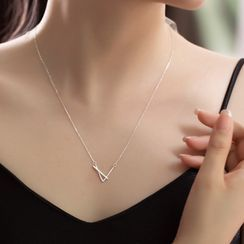 Eucalyse - Rhinestone Drop Necklace