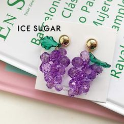 ICE SUGAR - Faux Crystal Grapes Dangle Earring