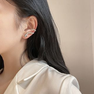 Show Mind - Alloy Snake Cuff Earring