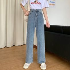 Honey River - Cropped Wide-Leg Jeans