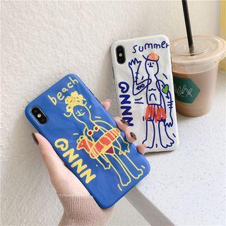 Make Workshop - Cartoon Print Mobile Case - iPhone 11 Pro Max / 11 Pro / 11 / XS Max / XS / XR / X / 8 / 8 Plus / 7 / 7 Plus / 6s / 6s Plus