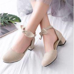 Freesia - 粗跟踝帶涼鞋