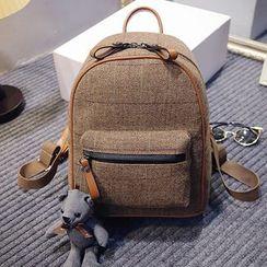 Merlain - Check Canvas Backpack