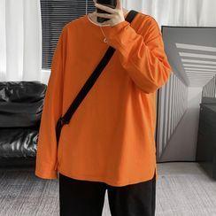 Besto - Plain Long-Sleeve T-Shirt