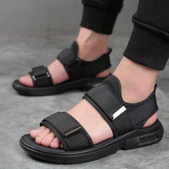 Kayne H - Platform Adhesive Strap Sandals