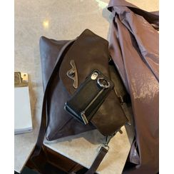neuf poeme - Real-Leather Flap Satchel