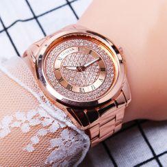 Cronos - Rhinestone Bracelet Watch