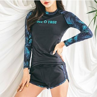 Summer Siren - 情侶款套裝: 印花防曬衣 + 短褲