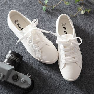 Jumul(ジュムル) - Canvas Lace-Up Sneakers