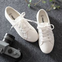 Jumul - Canvas Lace-Up Sneakers