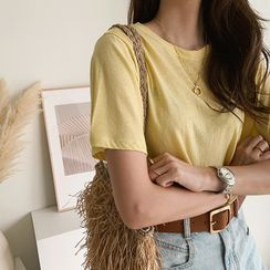 NANING9 - Short-Sleeve Mélange T-Shirt
