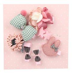 Janran - Kids Set: Fabric Hair Clip (assorted designs)