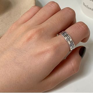 Betsuno - Roman Numeral & Lettering Alloy Ring
