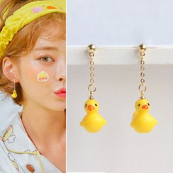 Joodii - Acrylic Duck Dangling Earrings