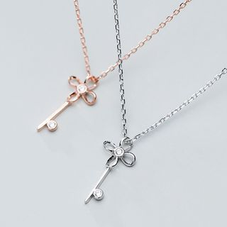 A'ROCH - 925纯银花朵钥匙吊坠项链