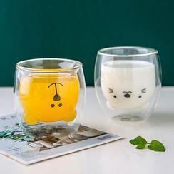 Kawa Simaya - Animal Print Glass Drinking Cup