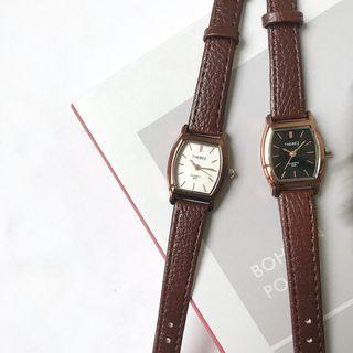 Cimmeria - Retro Square Faux Leather Strap Watch
