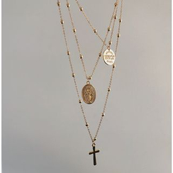 Cometto - Cross & Coin Layered Necklace
