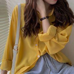 KAKAGA - Long Sleeve Plain Shirt
