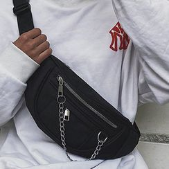 Youme - 飾鏈條斜背包