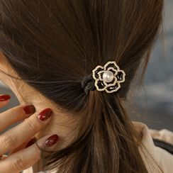 CLICK(クリック) - Faux-Pearl Flower Hair Tie