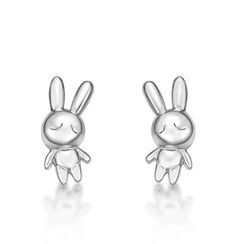 Kenny & co. - 925 Silver Rabbit C Icon Earring