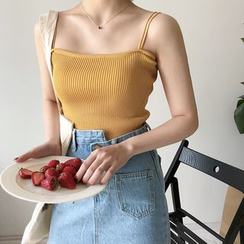 monroll - Double-Strap Cropped Camisole