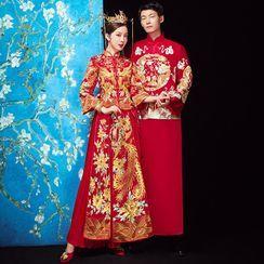 RITCH - 刺绣中式婚礼旗袍 / 头饰 / 套装