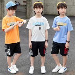 PAM - Kids Short-Sleeve Letter Print T-Shirt