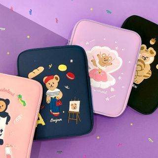 iswas - ''Juicy Bear'' Series Embroidered Neoprene Tablet Pouch