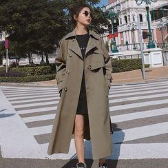 Jinyo - 饰钮扣长款大衣